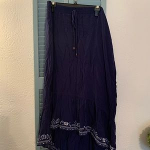 Navy Blue Peasant Skirt